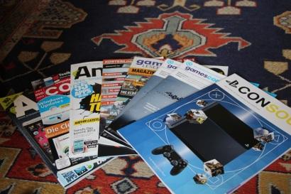 Quelques magazines récupérés sur place